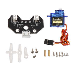 5V 5mm High-Brightness Colorful RGB LED Module with 9G Servo + Fixed Colums for Smart Robot Car