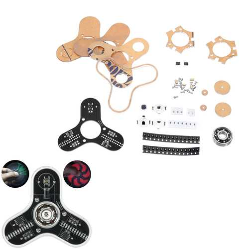 DIY LED Display Rotation Finger Tip Gyro Kit Electronic Production LED Display Module Kit