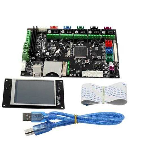 MKS-Robin STM32 Mainboard ARM Controller Board + MK2 Robin TFT3.2inch Colorful Touch Screen for 3D Printer with FFC Line & USB Cable