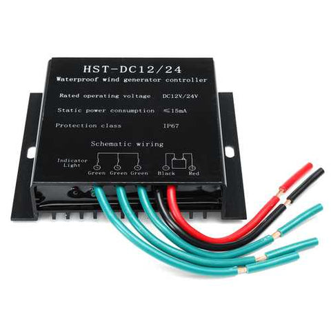 100W-800W DC 12V/24V Wind Turbine Generator Battery Charge Controller Regulator