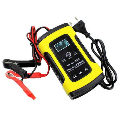 FOXSUR 12V 5A Pulse Repair LCD Battery Charger For Car Motorcycle Agm Gel Wet Lead Acid Battery