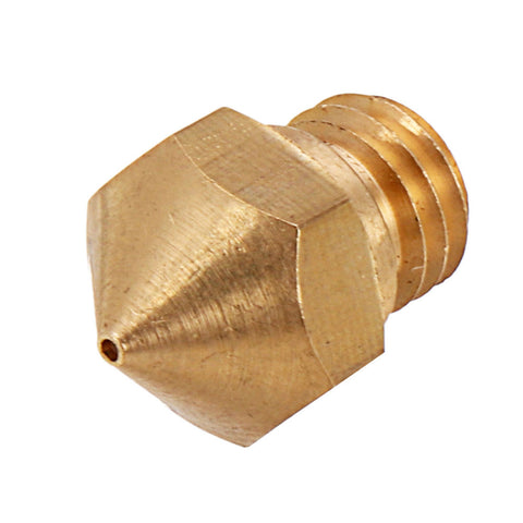 3pcs M7 Screw Thread 0.4mm MK10 Copper Nozzle for 3D Printer 1.75mm Filament
