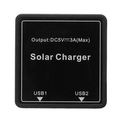 DIY Solar Wire Box 5-20V to 5V 3A Regulator Solar Double USB Junction Box For Solar Panel