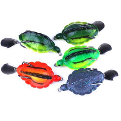 FO0165B 5Pcs/Set 5.5CM/13.4g Dual Hook Tortoise Fishing Lure Artificial Soft Bait With Spoon Sequins