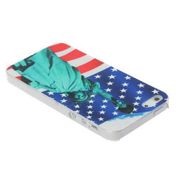 Statue Of Liberty Under The Flag Of US Pattern Hard Case For iPhone 5G