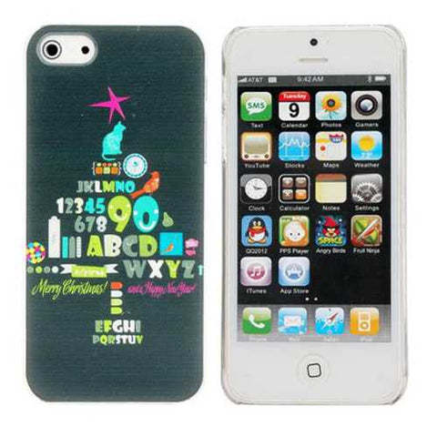 Christmas theme Tree Pattern Plastic Hard Back Case Cover For iPhone 5