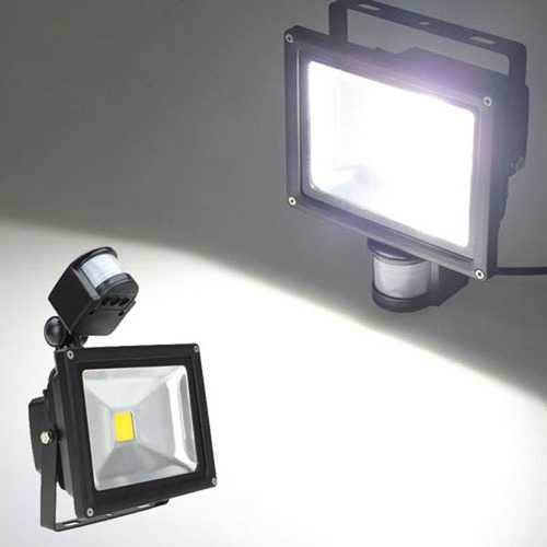 20W White 1550LM PIR Sensor Detector Security LED Flood Light 85-265V