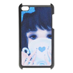 Blue Cute Girl Hard Back Plastic Case Cover Skin For iPod Touch 4
