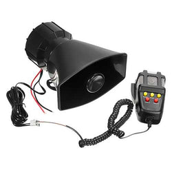 50W 12V 5Sounds Car Van Truck Speaker Loud Siren Horn 105db With MIC