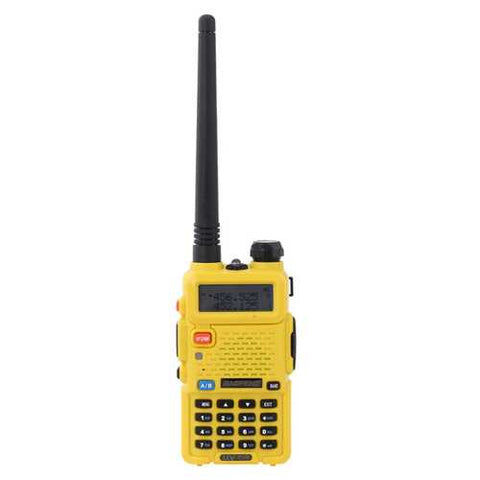 BAOFENG UV-5R Yellow Dual Band Handheld Transceiver Radio Interphone