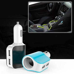Dual USB Car Charger with access to Cigarette Lighter Port
