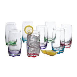 Gibson Home Karissa 8-Piece Glass Tumbler Set