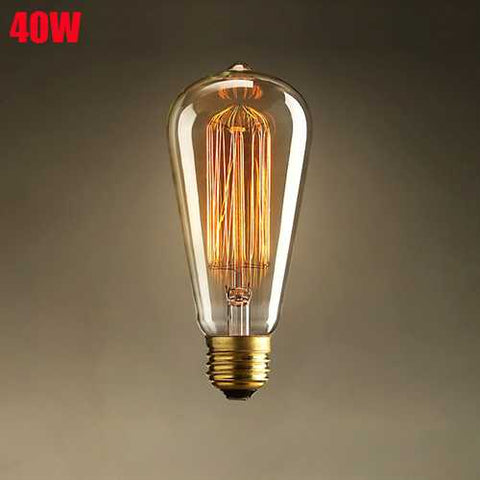 E27 40W Incandescent Bulb 220V ST64 Retro Edison Light Bulb