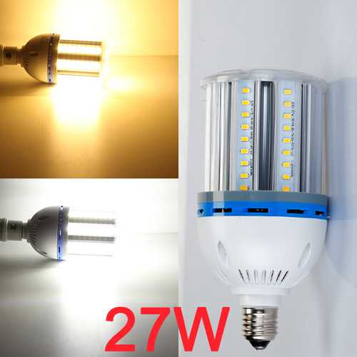 ZX E27 27W LED Corn Light Bulb Lamp White/Warm White 81 SMD5630 90-260V
