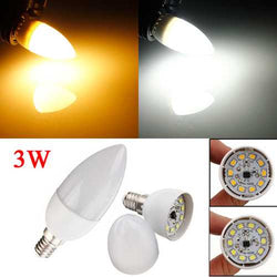 E14 2835 SMD 3W White/Warm White LED Candle Bulb Lamp AC 200-240V