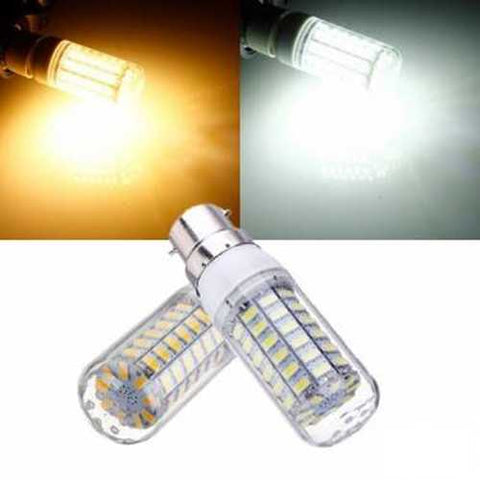 B22 7.5W White/Warm White 5730 SMD 69 LED Corn Light Bulb 220V