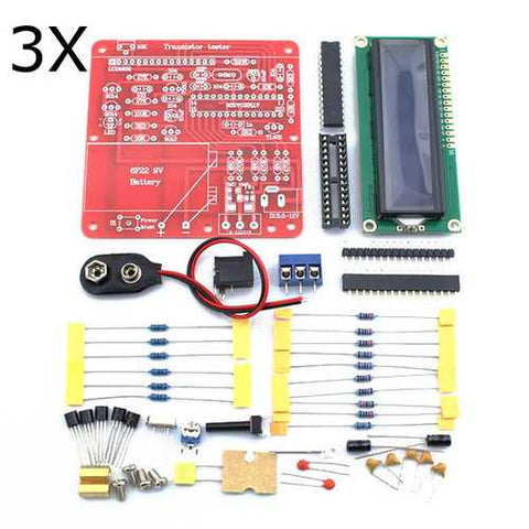 3Pcs Original Hiland DIY Multifunction Transistor Tester Kit For LCR ESR  PWM Generator M328