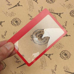 3X Magnification Loupe Lens Mini Credit Card Size