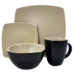 Gibson Infinite Glaze Matte 16 Piece Dinnerware Set
