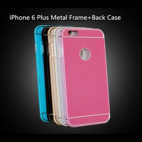 Hippocampus Buckle Metal Frame Back Case For iPhone 6 Plus & 6s Plus