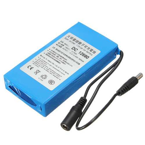 DC12V 3000mAh Super Rechargeable Portable Lithium Battery EU Plug
