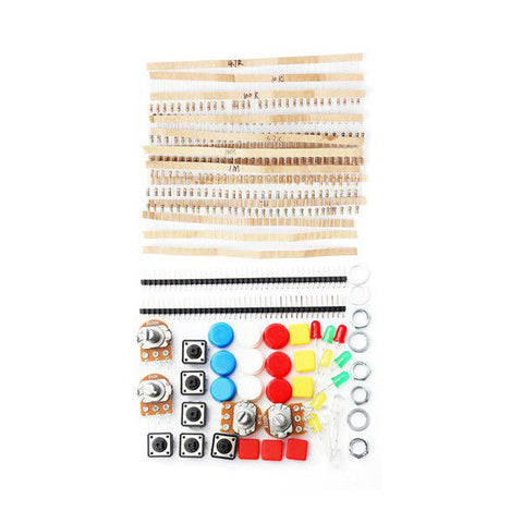 Electronic Parts Component Resistors Push Button Switch Kit For Arduino