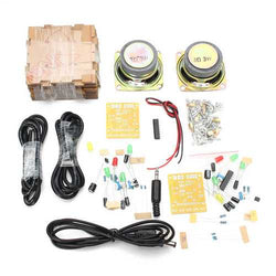 Geekcreit DIY Transparent Mini Amplifier Speaker Kit 65x65x70mm 3W Per Channel