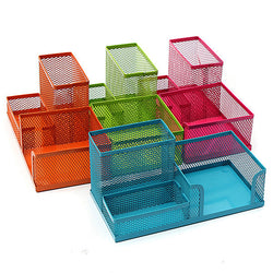 Metal Mesh Cosmetic Makeup Brush Pen Office Desktop Storage Box