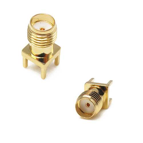 2PCS SMA Female Adapter EdgE-mount Solder RF Connector for RC Drone FPV Racing