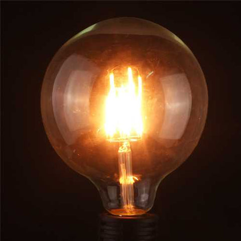 G125 6W E27 Edison Filament Warm White Globe COB LED Light Bulb 220-240V