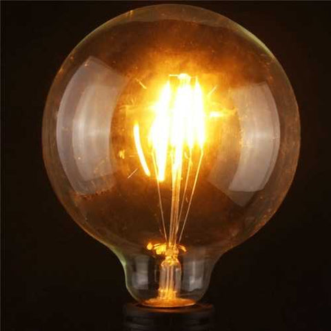 G125 4W E27 Edison Filament Warm White Globe COB LED Light Bulb 220-240V