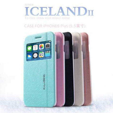 Original KLD ICELAND II Series Protection Flip Phone Case Cover Back Case For iPhone 6 Plus