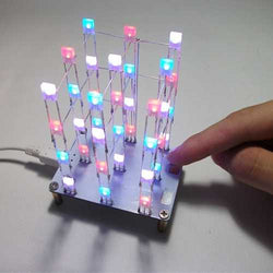 Geekcreit? DIY C51 Touch Control 3x3x4 Color LED Light Cube Kit