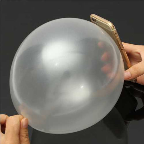 Close Up Magic Street Trick Mobile Into Balloon Penetration In A Flash Party