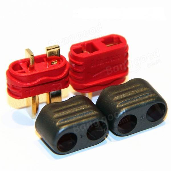 Amass T Plug Connector Male Female With Sheath 1 Pair