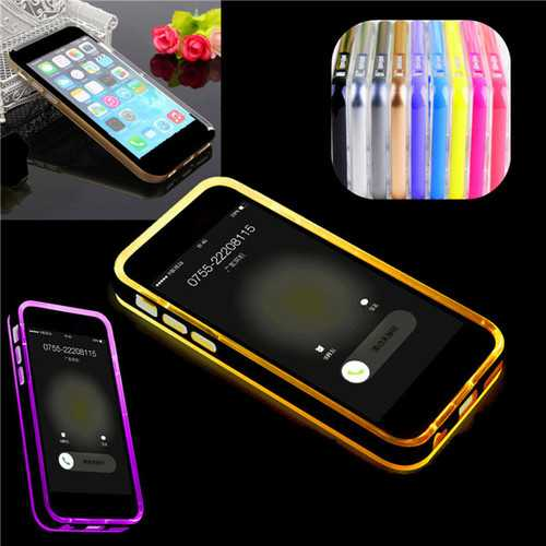 LED Flashlight Up Remind Incoming Call LED Blink Cover Case For iPhone 6 6s Plus 5.5""