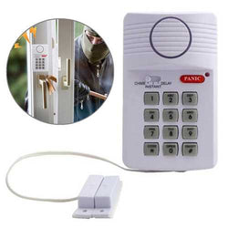 Security Keypad Door Alarm System Panic Button Doors Window Sheds Garages