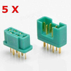 6 Pin MPX Plug Real Gold Plating Terminal Male & Female 5 Pair