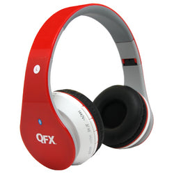 QFX Bluetooth Stereo Headphones-RED