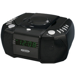 Jensen AM/FM Stereo Dual Alarm Clock Radio with Top Loading CD Player, Digital Tuner and Aux Input