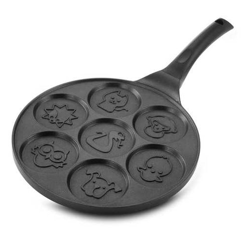 MegaChef Fun Animal Design 10.5 Inch  Nonstick Pancake Maker Pan with Cool Touch Handle