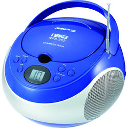 Naxa Portable MP3/CD Player with AM/FM Stereo Radio- Blue