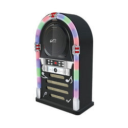 Bluetooth/CD Jukebox with LED Neon Lights - Black