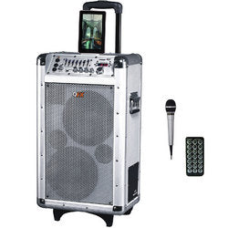 "QFX 2 x 8"" Battery Powered Bluetooth PA Speaker"