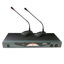 Pyle PDWM2150 Professional Dual Table Top VHF Wireless Microphone System