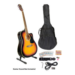 41'' Acoustic-Electric Guitar Package with Gig Bag, Strap, Picks, Tuner, and Strings (Sunburst Color)