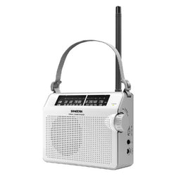 Sangean FM / AM Compact Analogue Tuning Portable Receiver- White