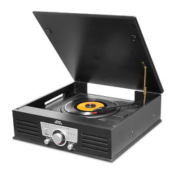 Pyle Bluetooth Classic Style Record Player Turntable with Vinyl to MP3 Recording, USB/SD Card Readers and AM/FM Radio