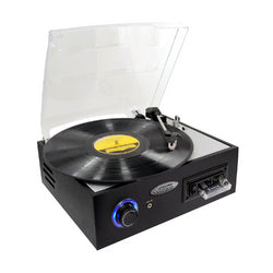Pyle Multifunction Turntable with MP3 Recording, USB-to-PC, Cassette Playback
