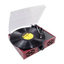 Pyle Retro Style Turntable With USB-to-PC